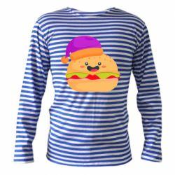 Тельняшка с длинным рукавом Happy hamburger