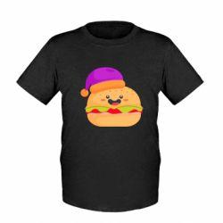 Детская футболка Happy hamburger