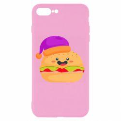Чехол для iPhone 8 Plus Happy hamburger