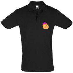 Мужская футболка поло Happy hamburger