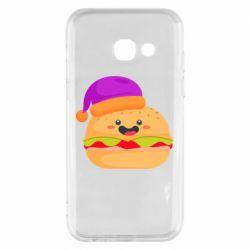 Чехол для Samsung A3 2017 Happy hamburger