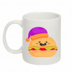 Кружка 320ml Happy hamburger