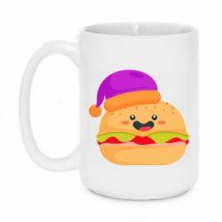 Кружка 420ml Happy hamburger