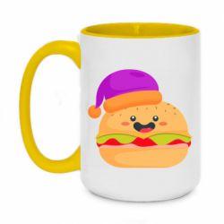 Кружка двухцветная 420ml Happy hamburger