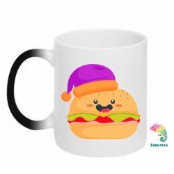 Кружка-хамелеон Happy hamburger