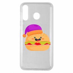 Чехол для Samsung M30 Happy hamburger