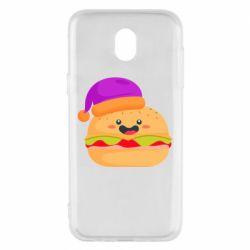 Чехол для Samsung J5 2017 Happy hamburger