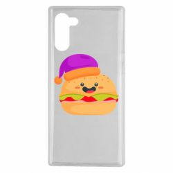 Чехол для Samsung Note 10 Happy hamburger