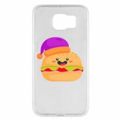 Чехол для Samsung S6 Happy hamburger