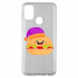 Чехол для Samsung M30s Happy hamburger