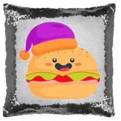 Подушка-хамелеон Happy hamburger