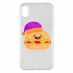 Чехол для iPhone X/Xs Happy hamburger