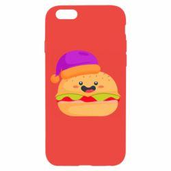 Чехол для iPhone 6/6S Happy hamburger