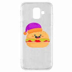 Чехол для Samsung A6 2018 Happy hamburger
