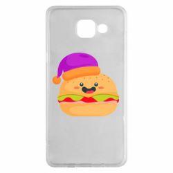 Чехол для Samsung A5 2016 Happy hamburger