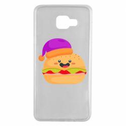 Чехол для Samsung A7 2016 Happy hamburger