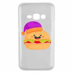 Чехол для Samsung J1 2016 Happy hamburger