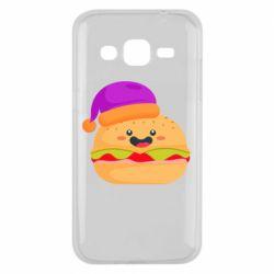 Чехол для Samsung J2 2015 Happy hamburger