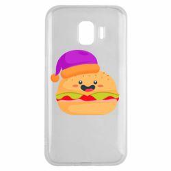 Чехол для Samsung J2 2018 Happy hamburger