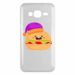 Чехол для Samsung J3 2016 Happy hamburger