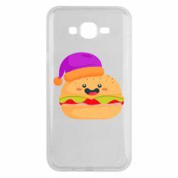 Чехол для Samsung J7 2015 Happy hamburger