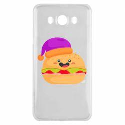 Чехол для Samsung J7 2016 Happy hamburger