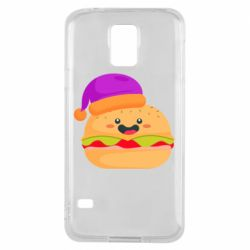 Чехол для Samsung S5 Happy hamburger