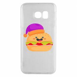 Чехол для Samsung S6 EDGE Happy hamburger