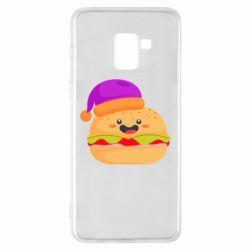Чехол для Samsung A8+ 2018 Happy hamburger