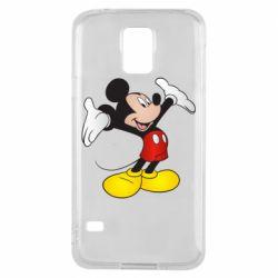Чохол для Samsung S5 Happy Mickey Mouse