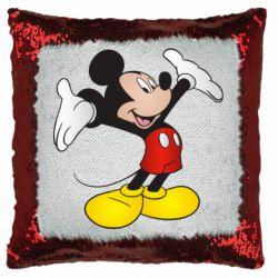 Подушка-хамелеон Happy Mickey Mouse