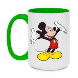 Кружка двоколірна 420ml Happy Mickey Mouse