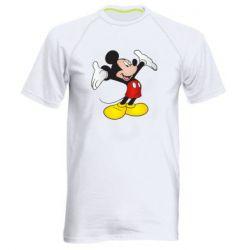 Чоловіча спортивна футболка Happy Mickey Mouse