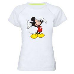 Жіноча спортивна футболка Happy Mickey Mouse