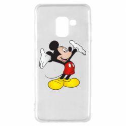 Чохол для Samsung A8 2018 Happy Mickey Mouse