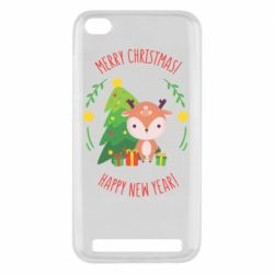 Чехол для Xiaomi Redmi 5A Happy new year and deer