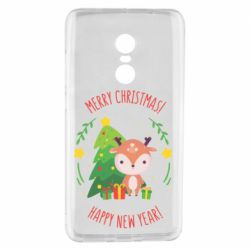 Чехол для Xiaomi Redmi Note 4 Happy new year and deer