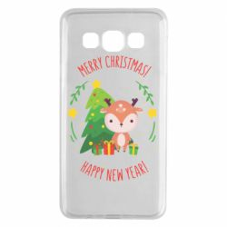 Чехол для Samsung A3 2015 Happy new year and deer