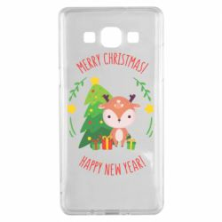 Чехол для Samsung A5 2015 Happy new year and deer