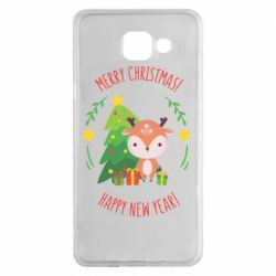 Чехол для Samsung A5 2016 Happy new year and deer