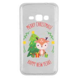 Чехол для Samsung J1 2016 Happy new year and deer
