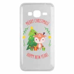 Чехол для Samsung J3 2016 Happy new year and deer