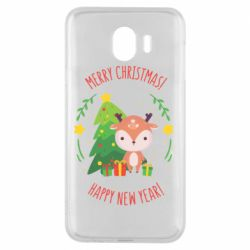 Чехол для Samsung J4 Happy new year and deer