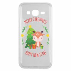 Чехол для Samsung J5 2015 Happy new year and deer