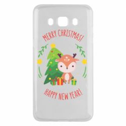 Чехол для Samsung J5 2016 Happy new year and deer