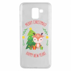 Чехол для Samsung J6 Happy new year and deer