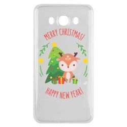 Чехол для Samsung J7 2016 Happy new year and deer