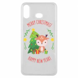 Чехол для Samsung A6s Happy new year and deer