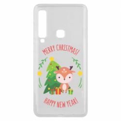 Чехол для Samsung A9 2018 Happy new year and deer