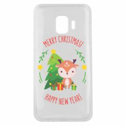 Чехол для Samsung J2 Core Happy new year and deer